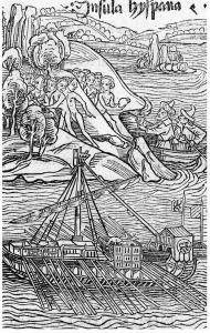 [Figure 1: Illustration from Christopher Columbus, Letter to Sanchez (1493).]