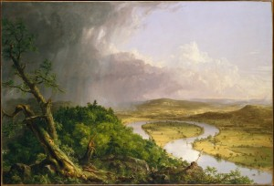 [Figure 3: Thomas Cole, View from Mount Holyoke, Northampton, Massachusetts, after a Thunderstorm-The Oxbow 1836, Metropolitan Museum of Art]