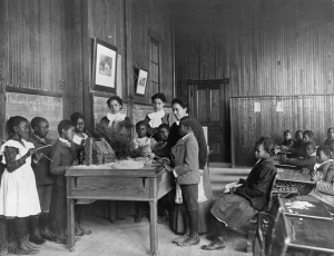 Frances Benjamin Johnston, Thanksgiving Day Lesson at Whittier, 1899 Source: Library of Congress Prints and Photographs Division