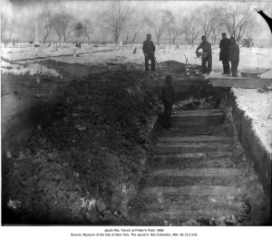 Jacob Riis, Trench at Potter's Field, 1888.  Source: Museum of the City of New York, The Jacob A. Riis Collection, #84. 90.13.2.319.