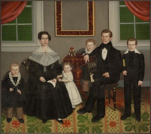 [Figure 1: Erastus Salisbury Field, Joseph Moore and His Family c. 1839, Museum of Fine Arts, Boston]