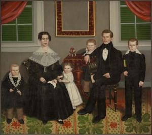 [Figure 1: Erastus Salisbury Field, Joseph Moore and His Family c. 1839, Museum of Fine Arts, Boston]