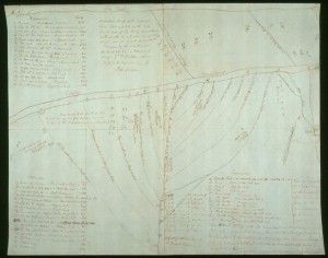 [Figure 4: Peter Fidler (after Ac ko mok ki), An Indian Map of the Different Tribes, that Inhabit the East and West Side of the Rocky Mountains . . ., 1801, manuscript map. Courtesy of Hudson's Bay Company Archives, Provincial Archives of Manitoba.]