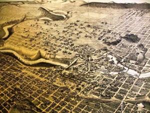 [Figure 5: Panoramic map of Spokane Falls, Washington, 1890. Washington State Digital Archives.]