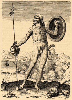 [Figure 5: Theodor de Bry (after John White), The true picture of one Picte.]
