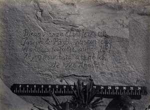 Timothy O'Sullivan, Historic Spanish Record of the Conquest, South Side of Inscription Rock, N.M. No. 3, 1873. Albumen print. Source: Smithsonian American Art Museum, 1994.91.137.