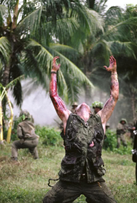 Platoon (1986)  Written and Directed by Oliver Stone. Source: Herndale Film Coroporation