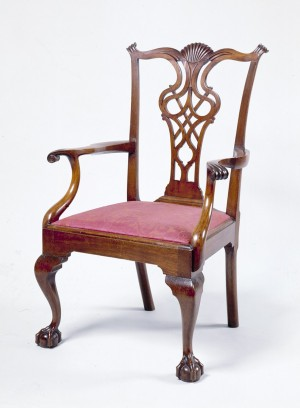 Armchair Probably made by Eliphalet Chapin (1741-1807) East Windsor Hill, CT Mahogany and pine. 1780-1790 Source: Wadsworth Atheneum